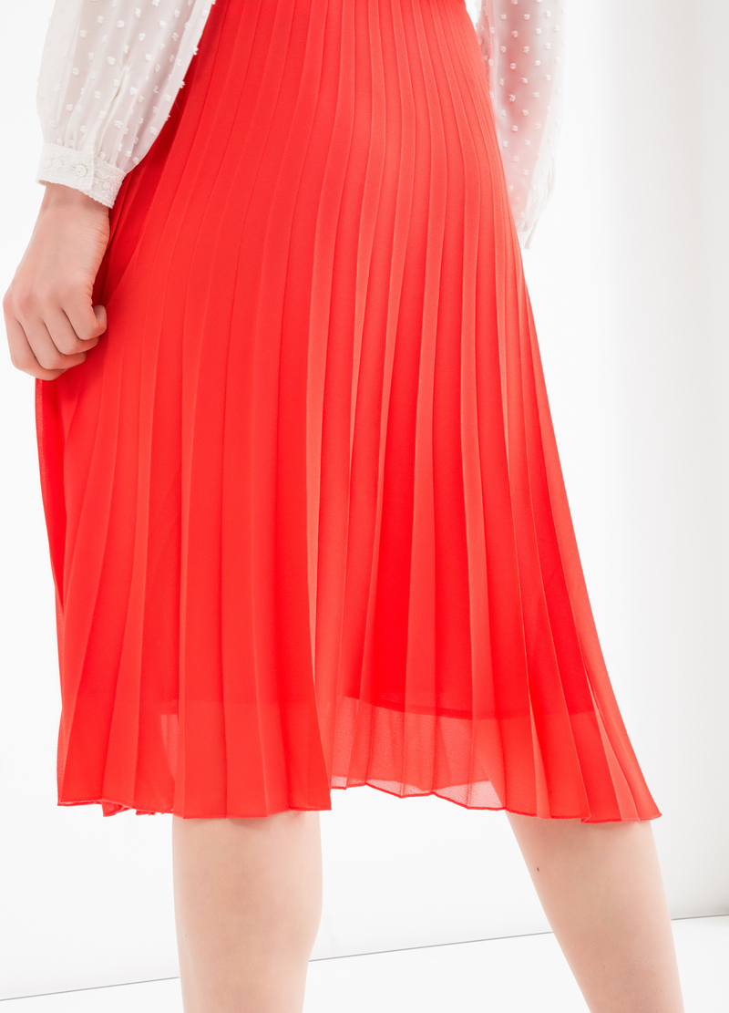 High waist pleated skirt image number null