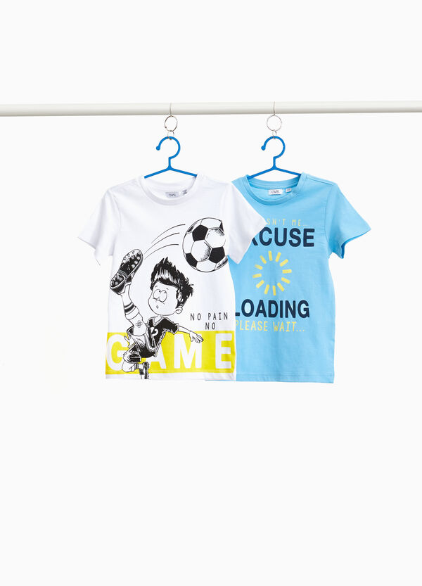 Two-pack printed T-shirts in cotton