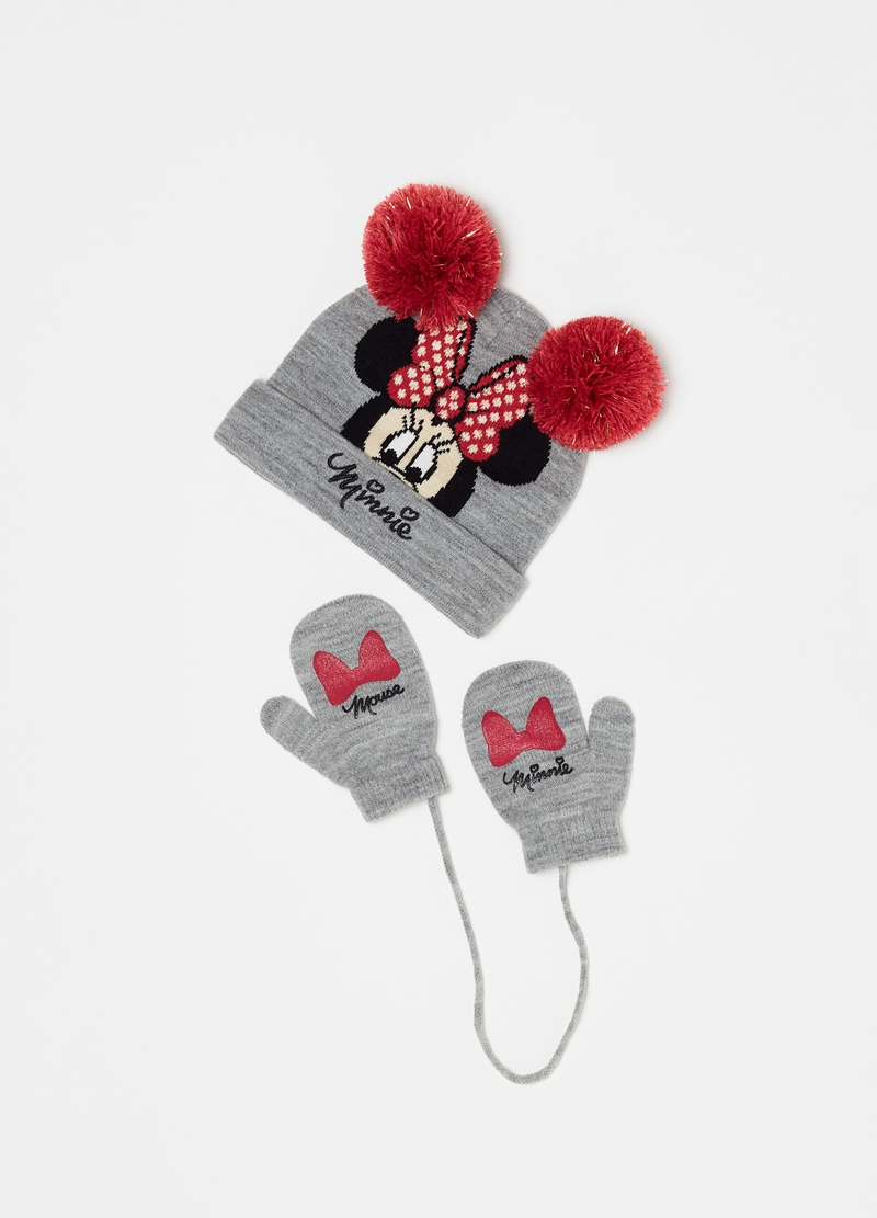 Set berretto e muffole mélange Disney Minnie image number null