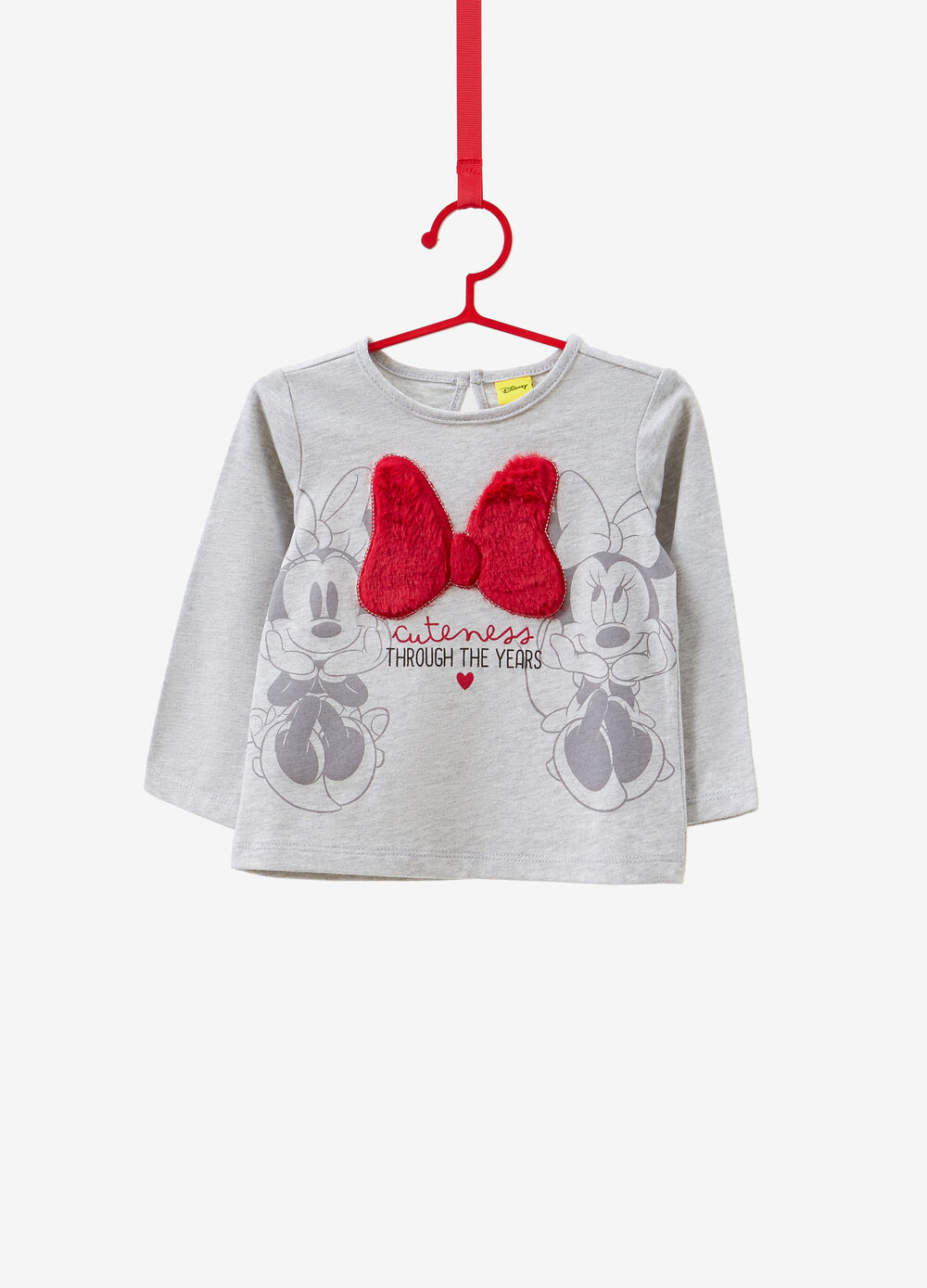 Long-sleeved T-shirt with Minnie print