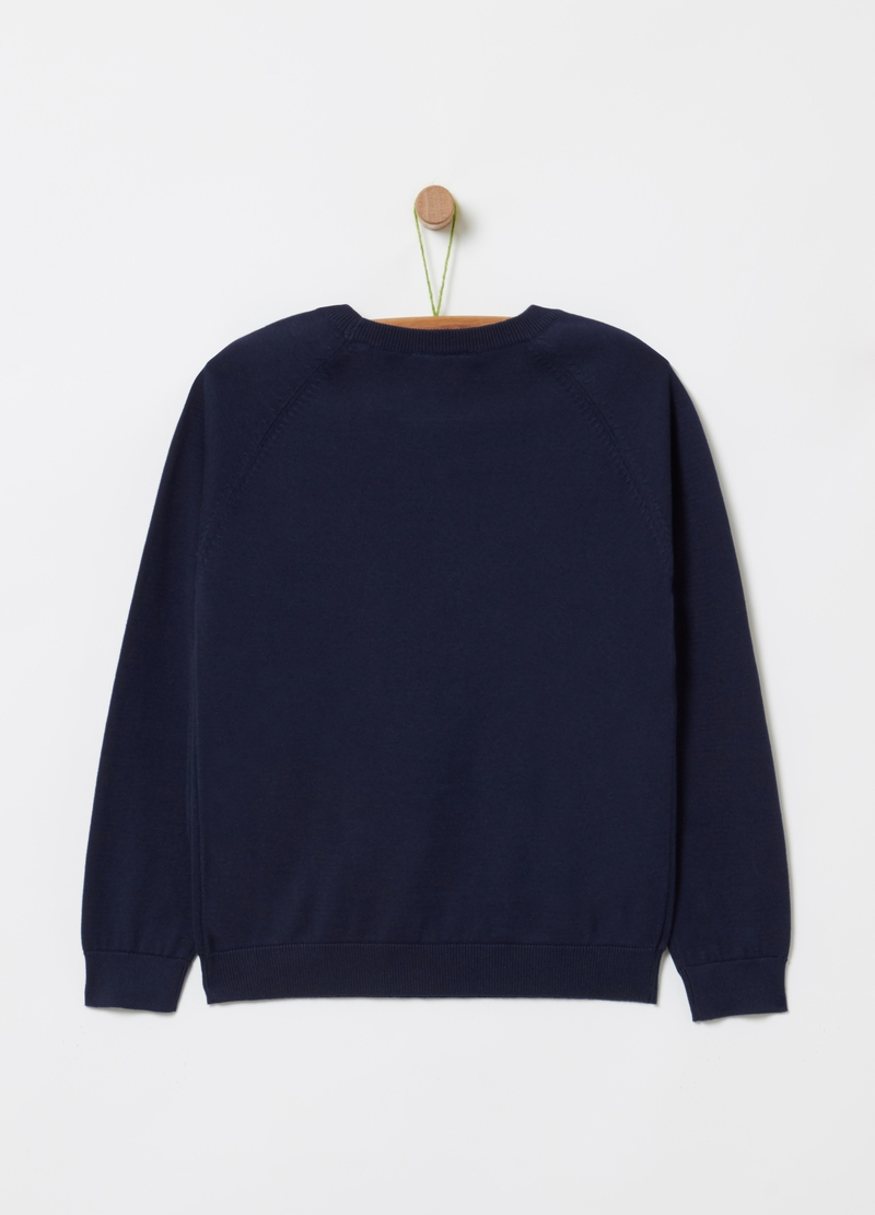 Knit jumper with print image number null