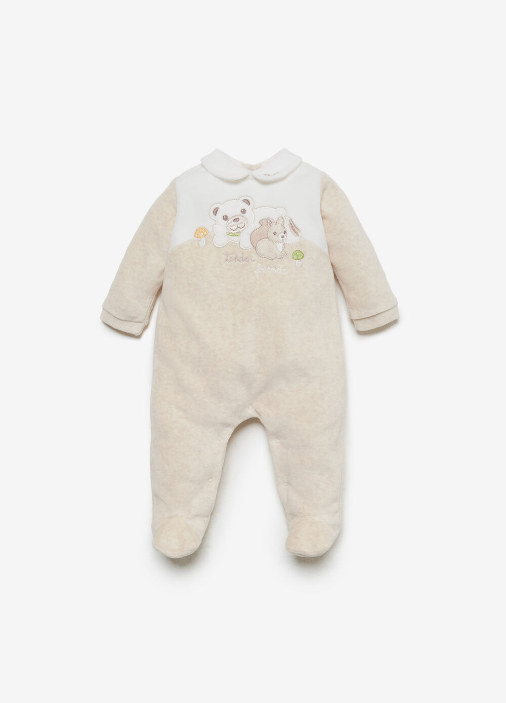 THUN Teddy two-tone romper suit