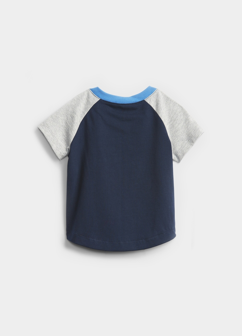 GAP cotton T-shirt with raglan sleeves image number null