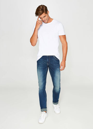 Faded, skinny-fit stretch jeans