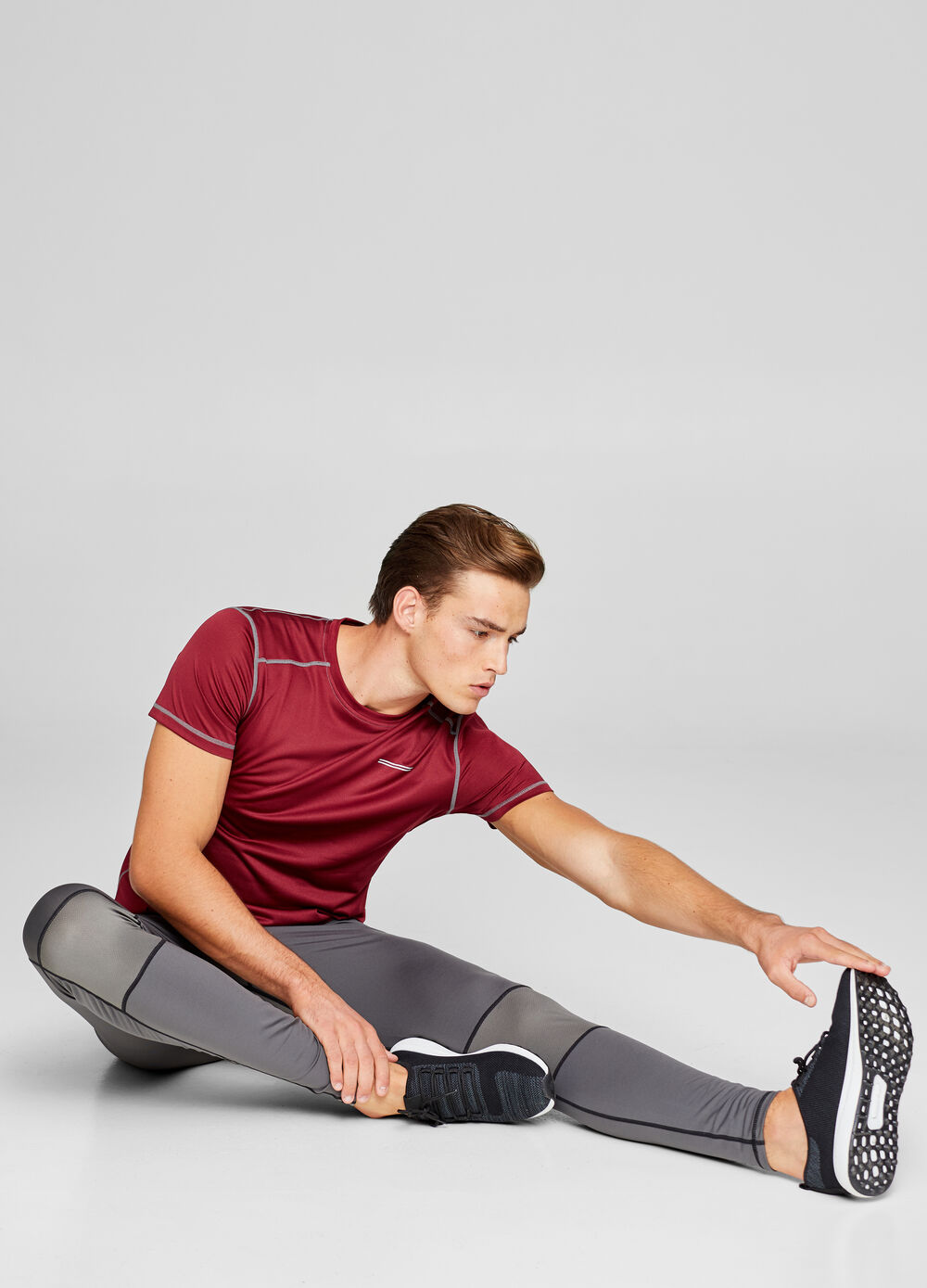 Stretch cotton gym trousers