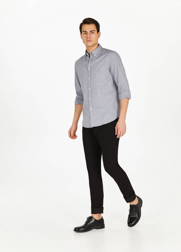 Cotton casual shirt with small pocket