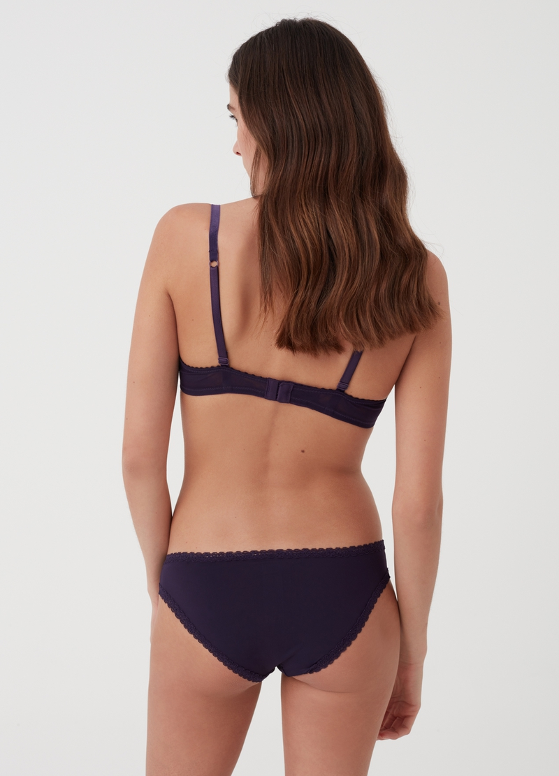 Slip classico con pizzo stretch image number null