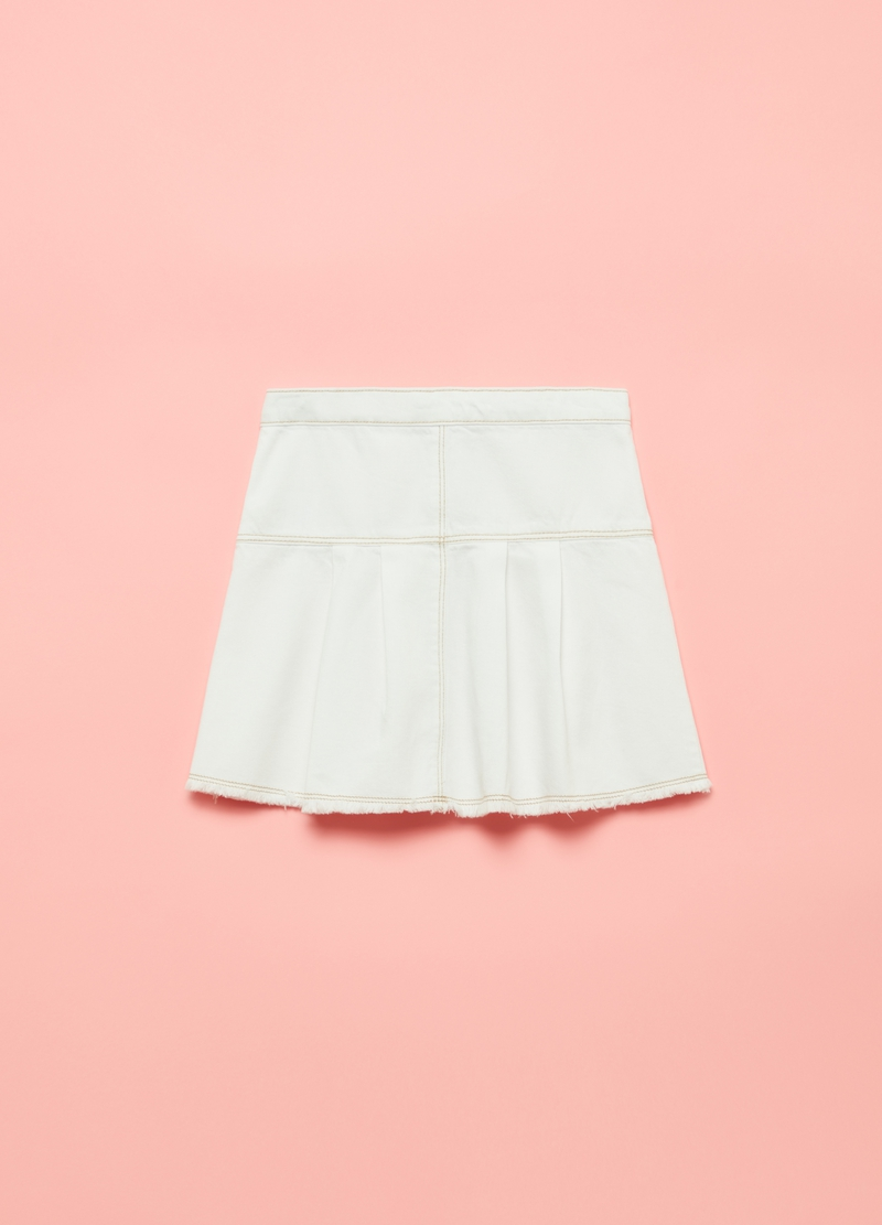 Twill skirt with buttons image number null