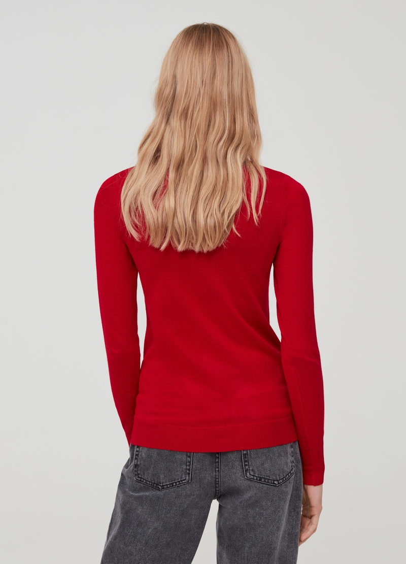 Viscose blend pullover with high neck image number null
