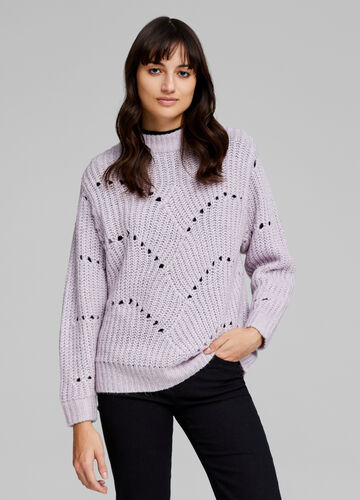Openwork cable knit pullover