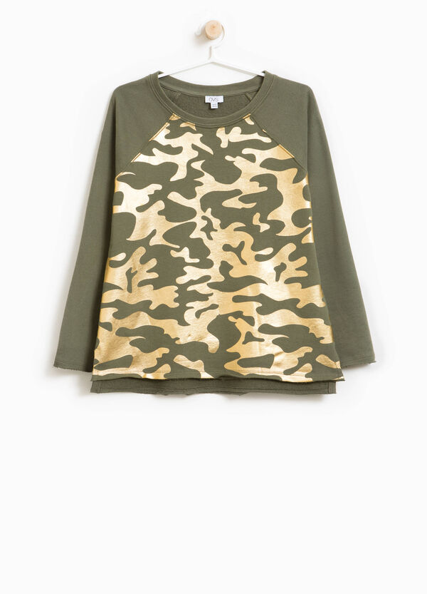 100% cotton sweatshirt with camouflage print