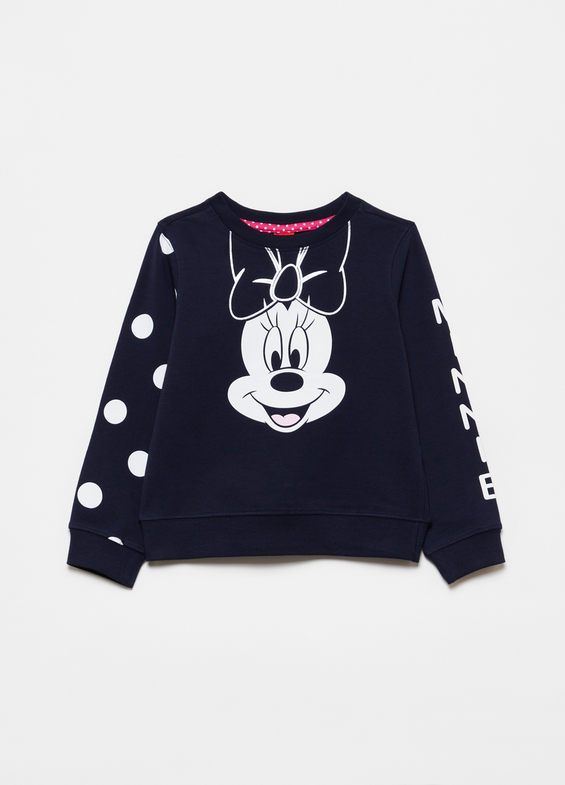 Felpa in cotone stretch stampa Disney Minnie image number null