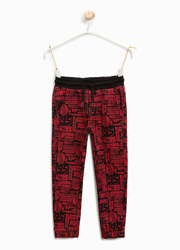 Joggers with Cars pattern
