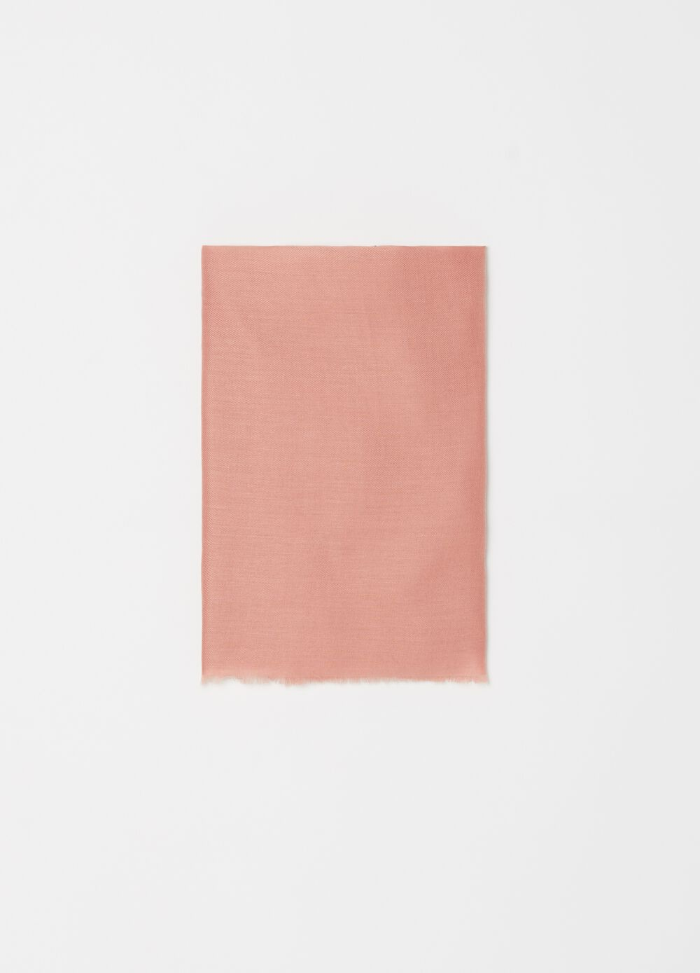 Solid colour pashmina with raw-cut edges