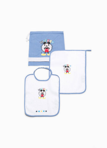 Cotton blend kindergarten set with Mickey Mouse patch