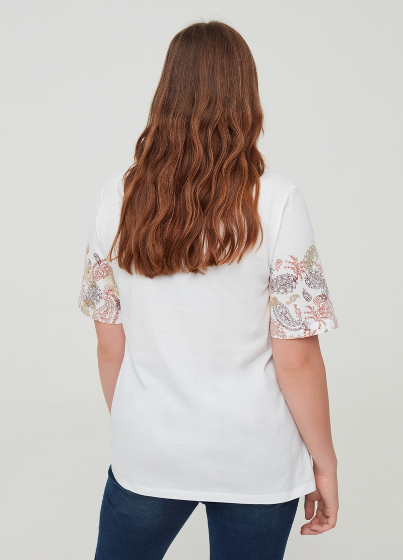 Curvy T-shirt in 100% cotton with print image number null
