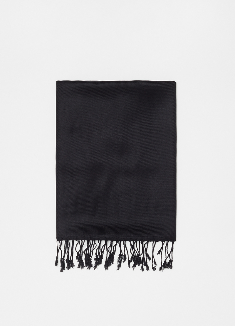 100% viscose scarf with fringing image number null