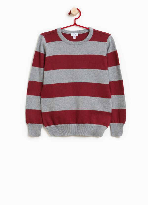 Knit pullover with striped pattern | OVS