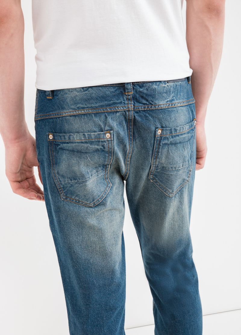 Jeans loose fit used con strappo image number null