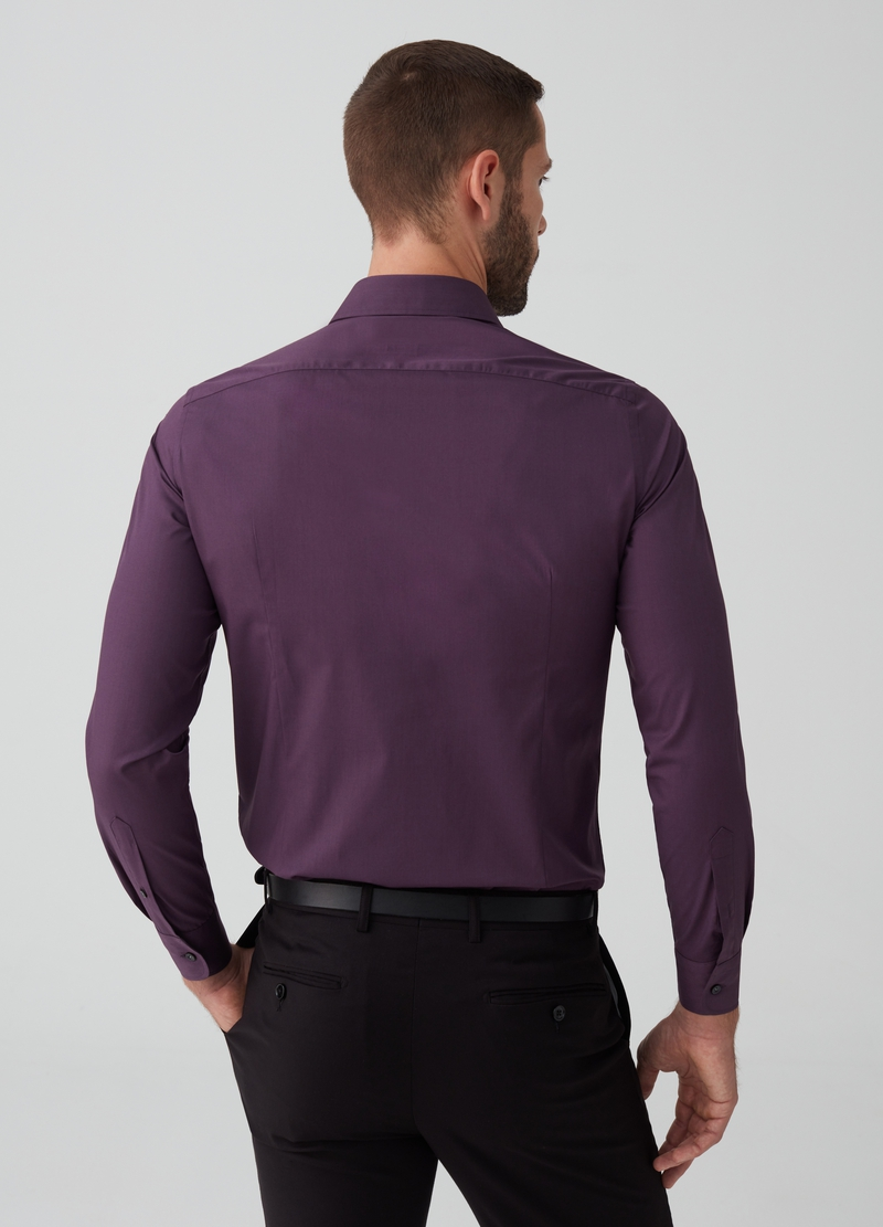 Slim-fit shirt with button-down collar and pocket image number null