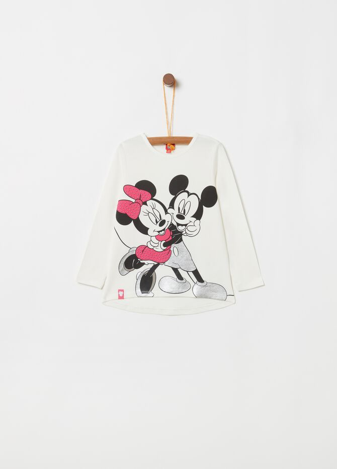 T-shirt stampa Disney Minnie e Topolino
