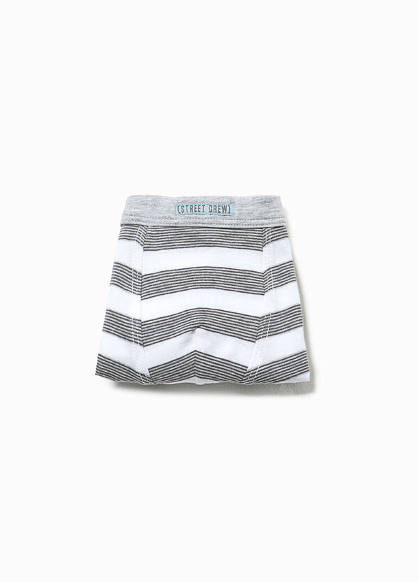 Striped organic cotton boxers | OVS