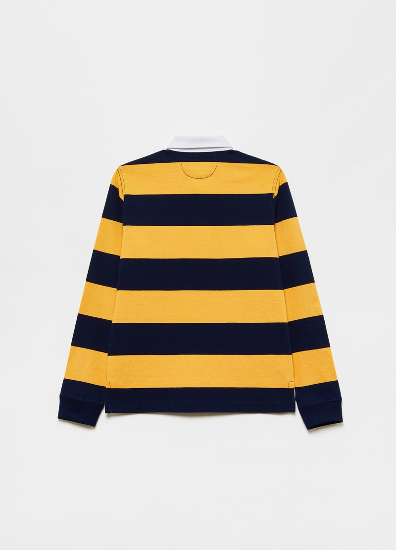 Polo in cotone a righe image number null