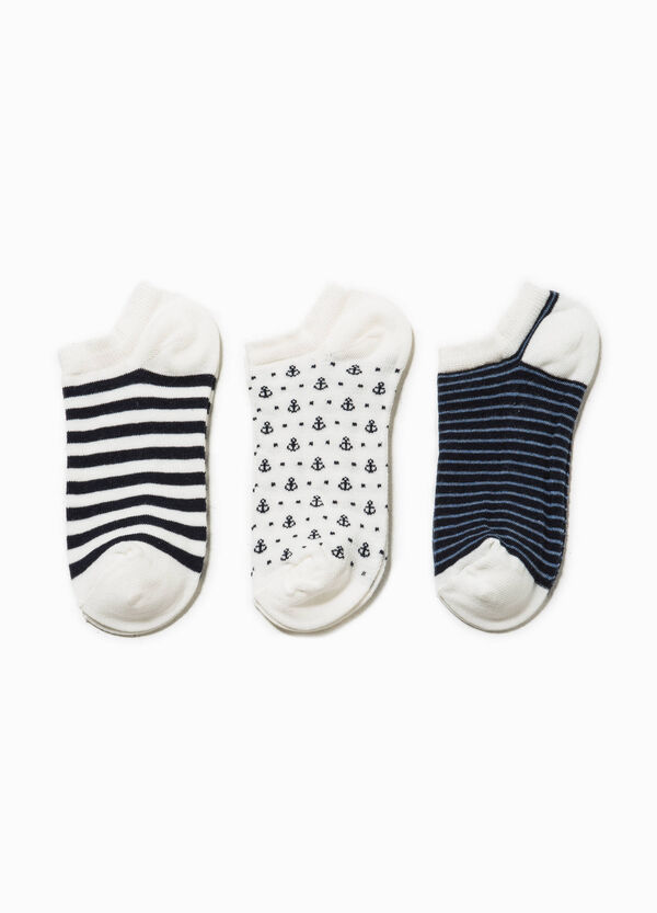 Three-pack short patterned socks | OVS