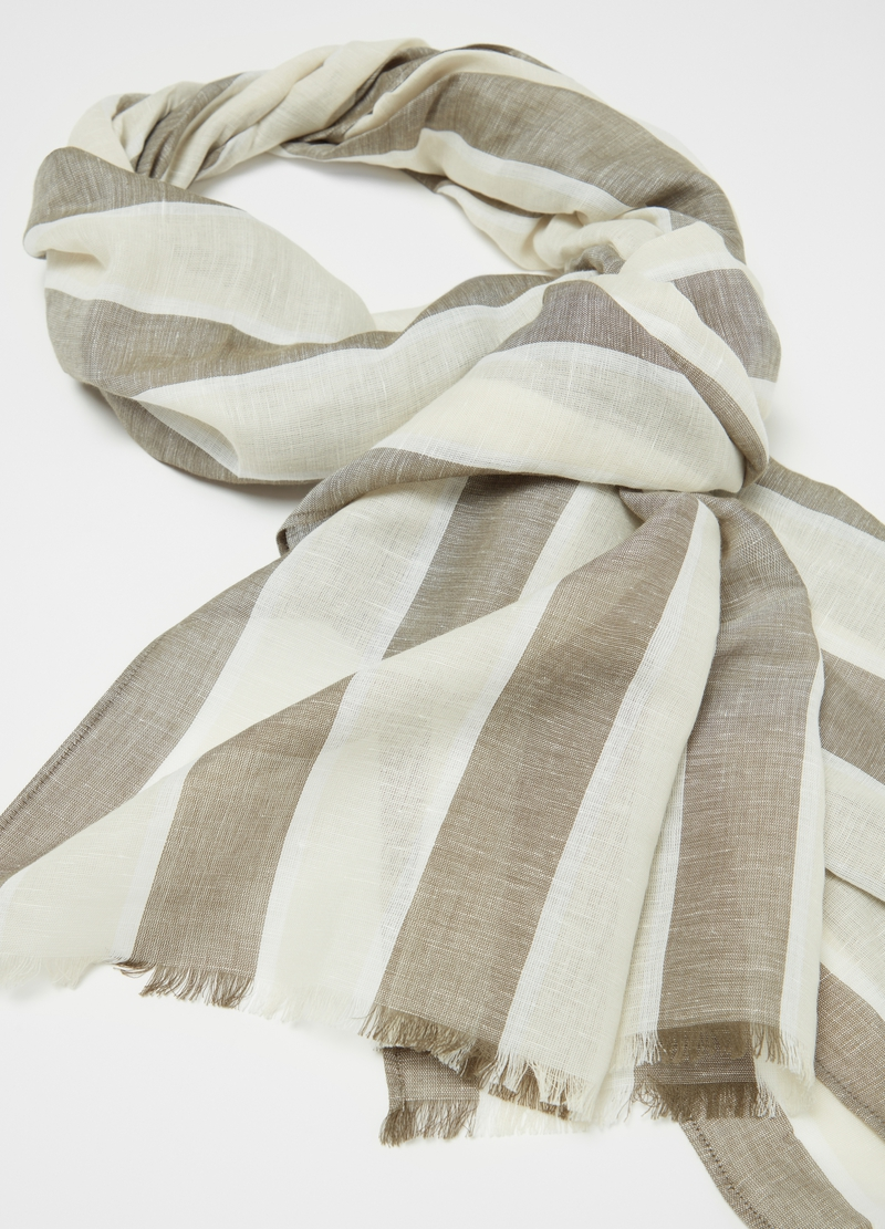 Linen and cotton patterned scarf image number null