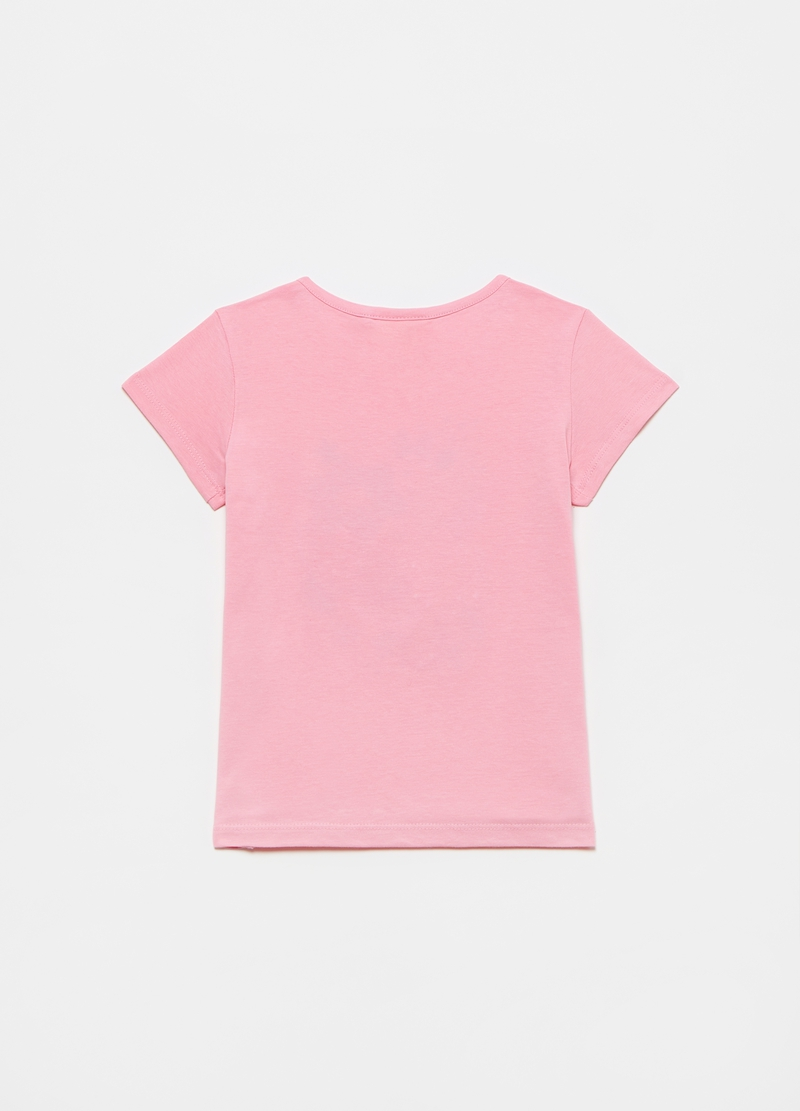 Printed diamanté T-shirt in cotton image number null