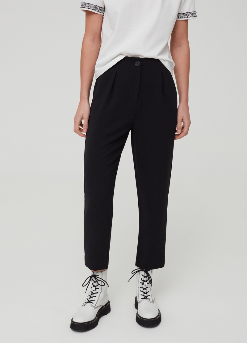 Pantaloni stretch con pinces image number null