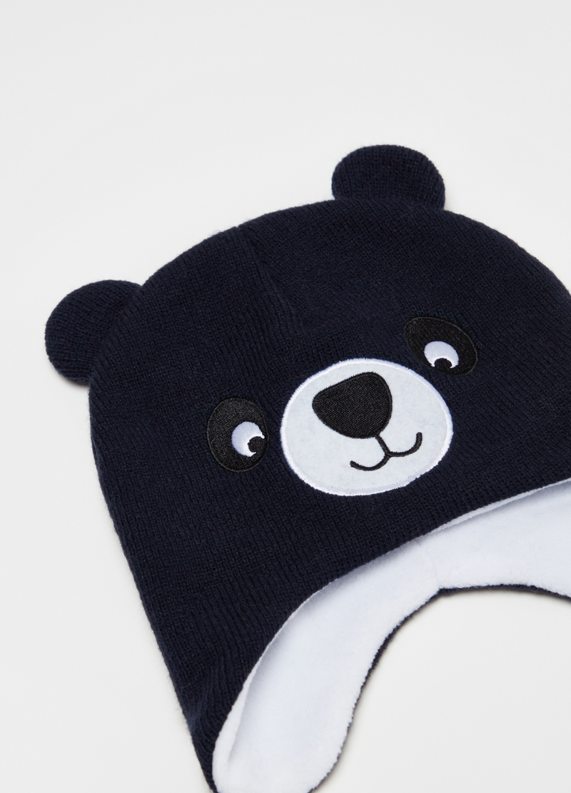 Hat with ears and teddy bear embroidery image number null