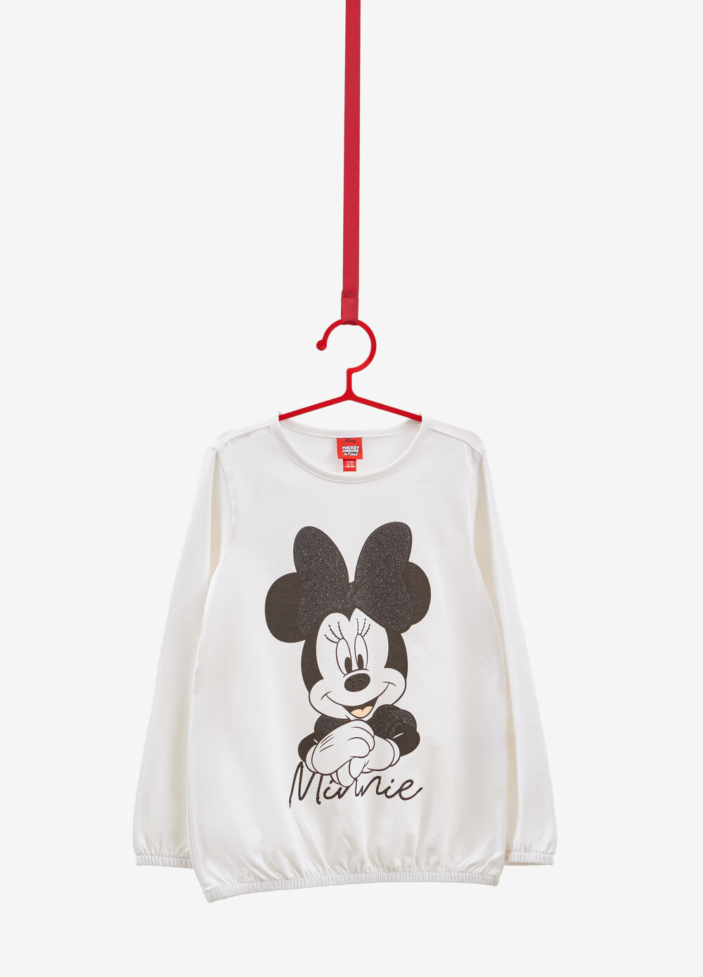 T-shirt cotone stretch stampa Minnie