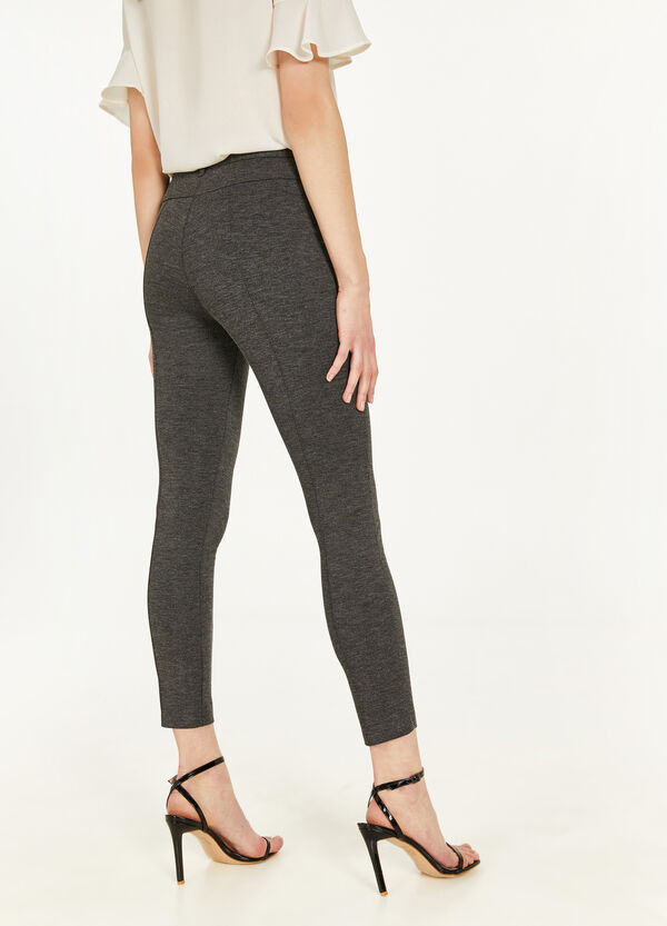 Elegant stretch viscose trousers
