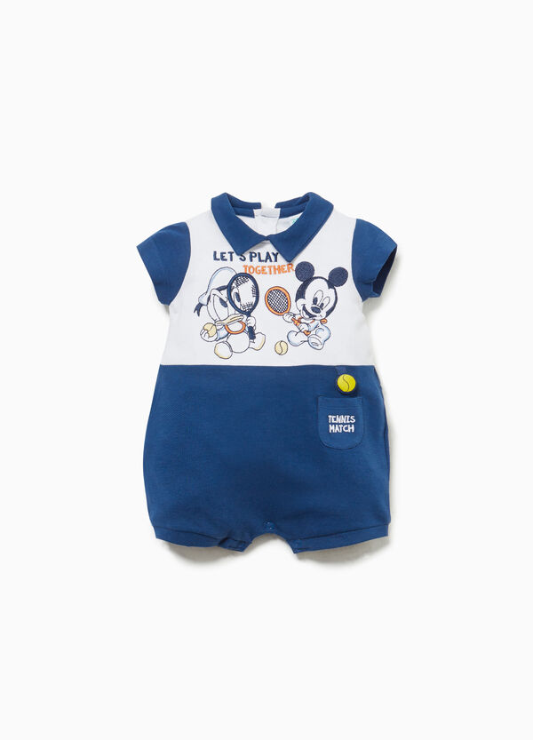 Donald Duck and Mickey Mouse romper suit