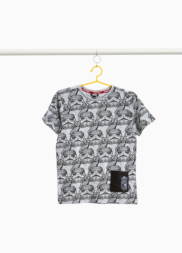 100% cotton T-shirt with Star Wars pattern