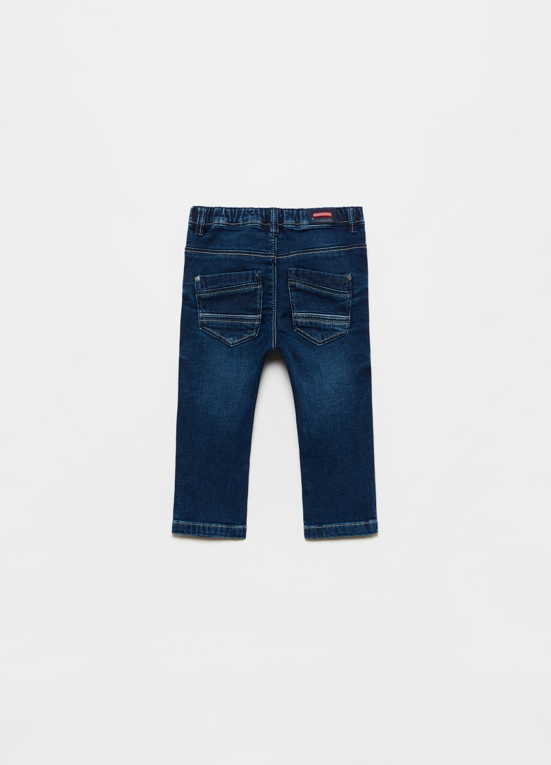 Pantalone in French Terry denim cinque tasche image number null