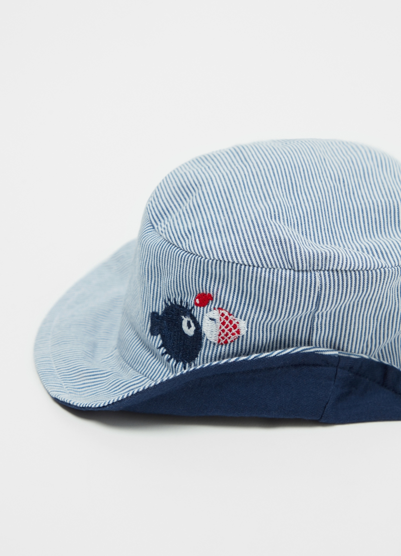 Cappellino puro cotone a righe image number null
