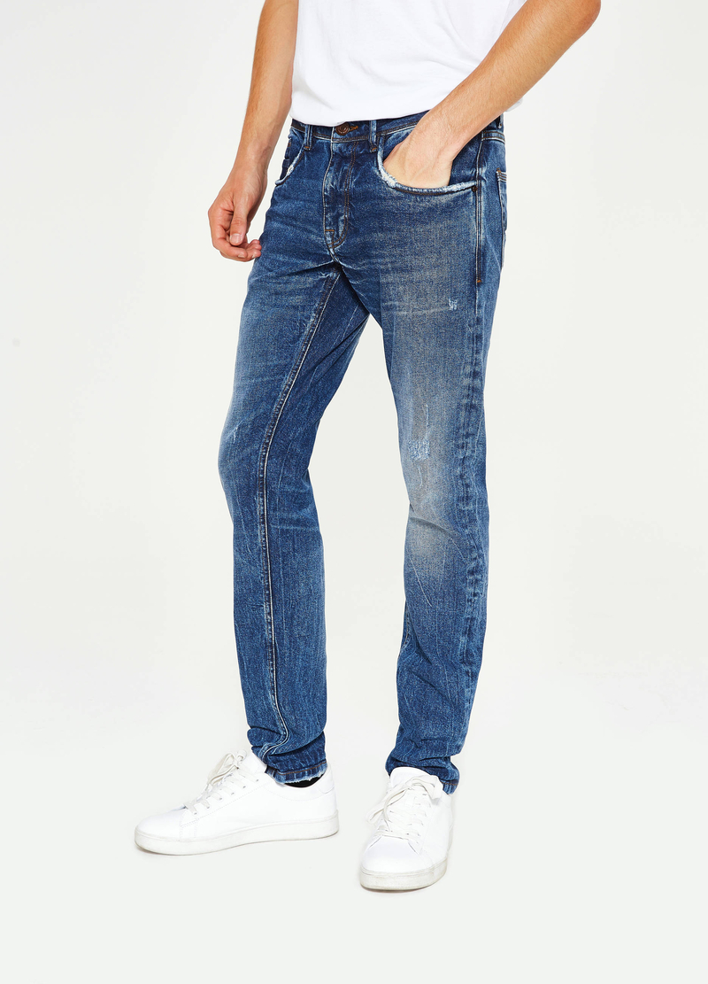 Jeans slim fit stretch used baffature image number null