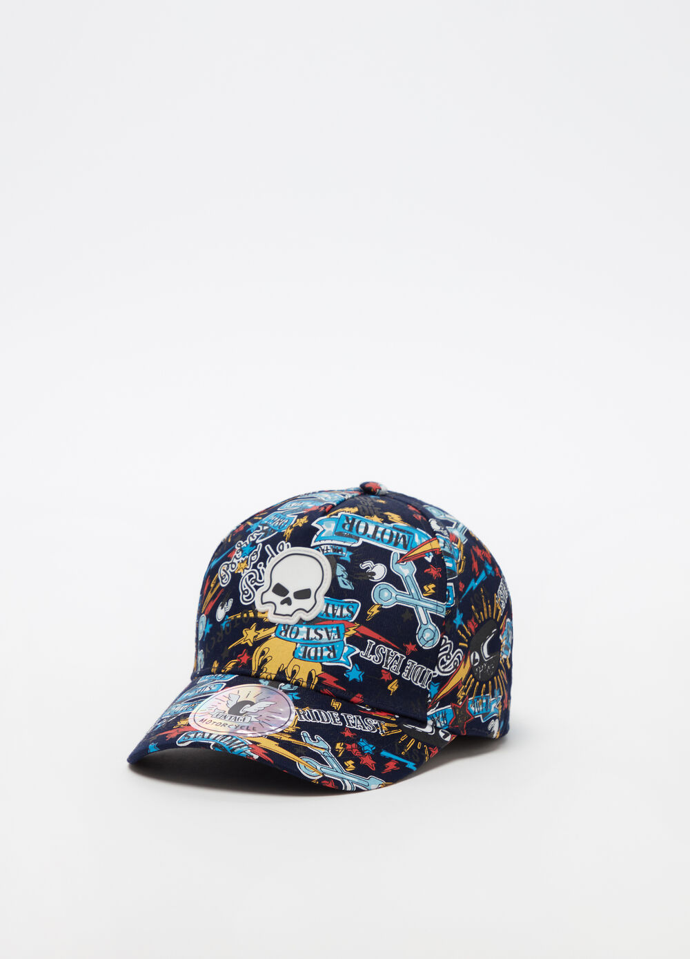 Cappello da baseball graffiti all-over