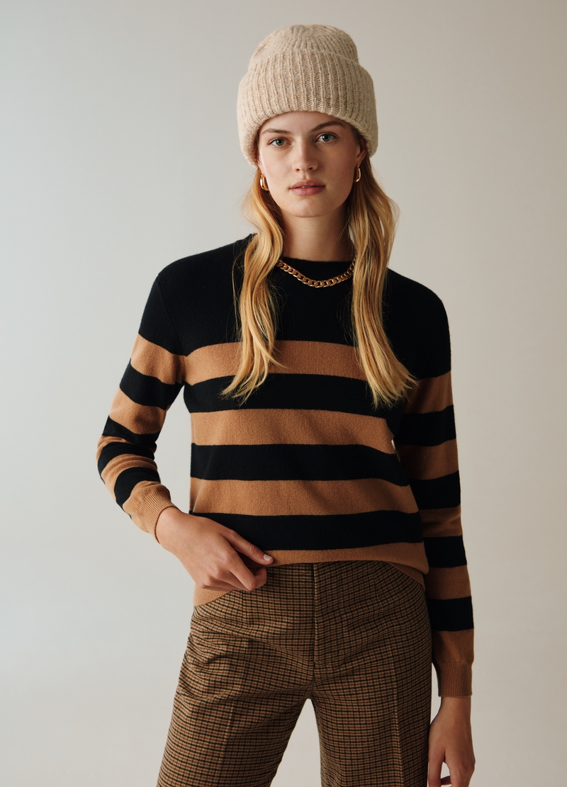 PIOMBO Pullover lana e cachemire a righe image number null