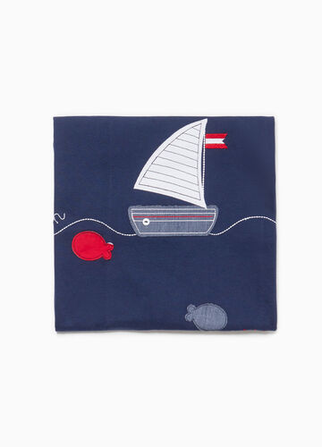 Patterned blanket with marine patches