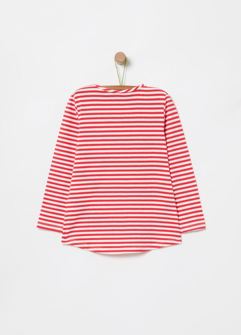 T-shirt with print and stripes image number null