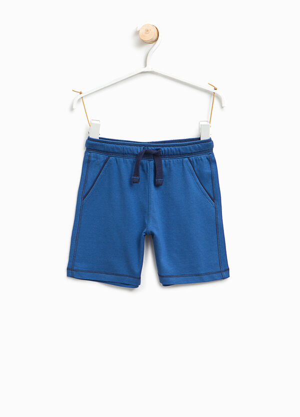 Cotton jersey Bermuda shorts with drawstring | OVS