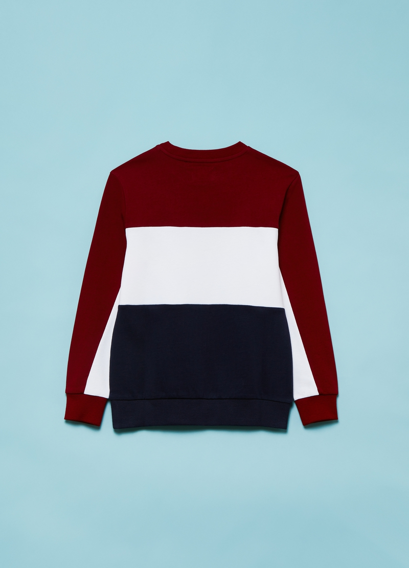 Colourblock sweatshirt with lettering print image number null