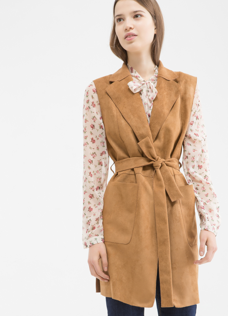 Gilet in similpelle scamosciata image number null