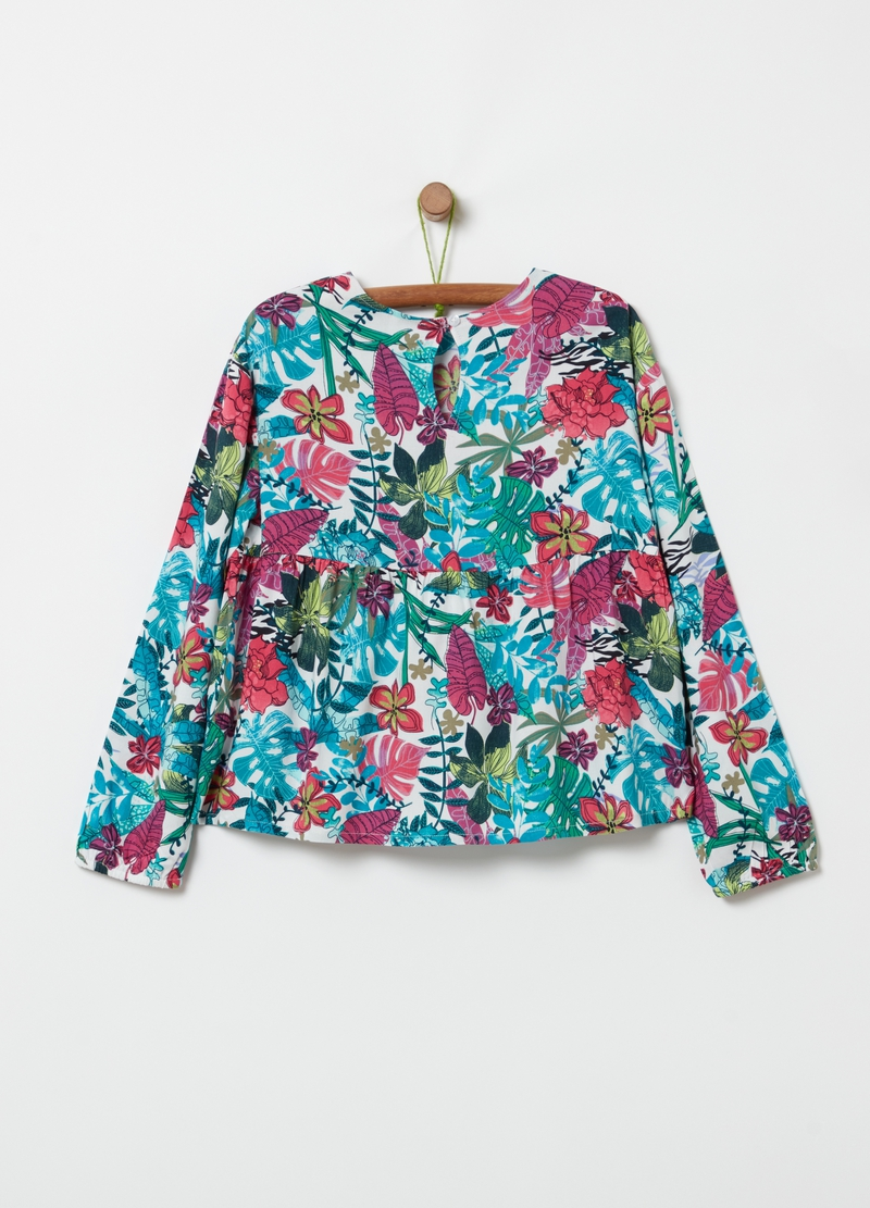 100% viscose blouse with all-over print image number null