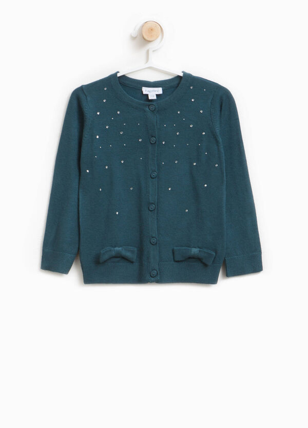 Cardigan in misto viscosa con strass | OVS