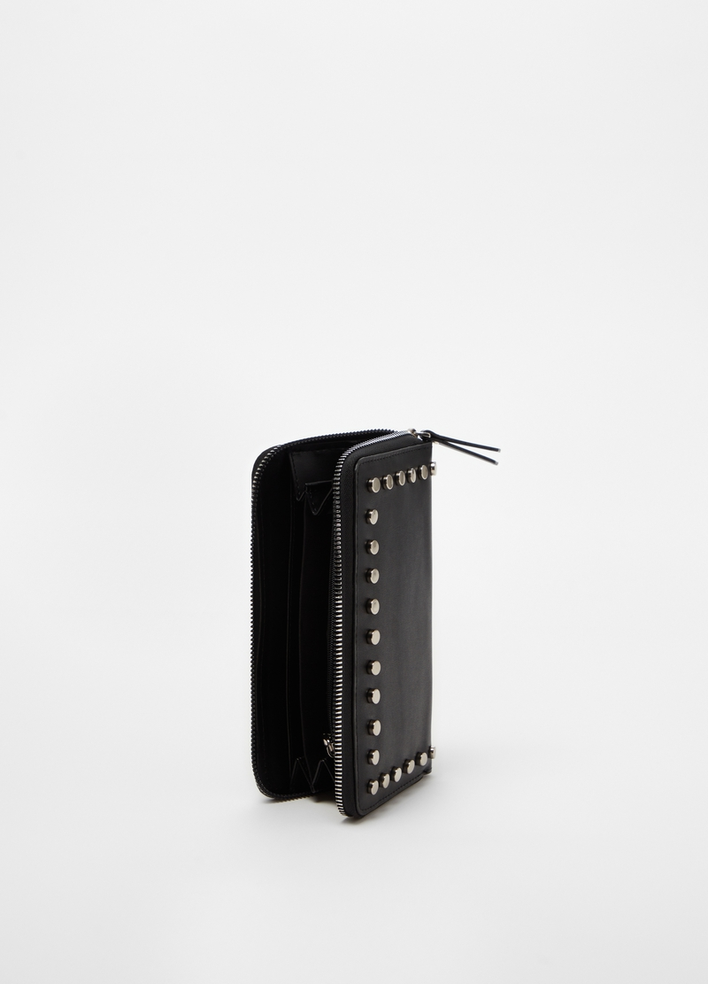Wallet with small studs image number null