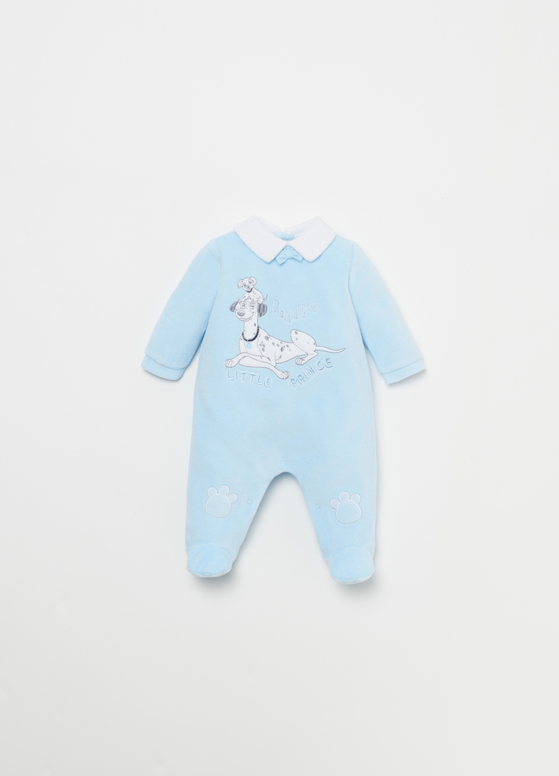 Tutina in velour patch Disney Baby image number null